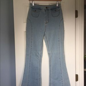 High Waisted Bell Bottom Urban Outfitters Jeans
